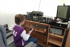 Pat-Harper-Cai-listening-to-the-Radios